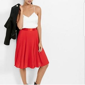 NWT Express Pleated Red Skirt